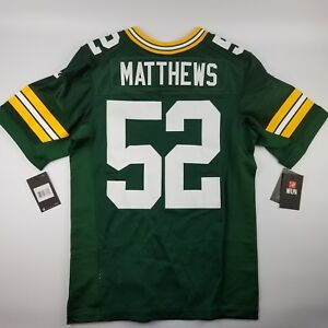 new concept e389f 7040b Details about Nike Elite Football Jersey NFL Green Bay Packers Clay  Matthews #52 Size 40 (Med)