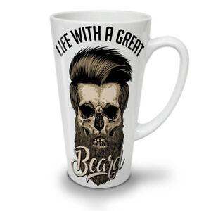 Life With Beard Skull NEW White Tea Coffee Latte Mug 12 17 oz | Wellcoda