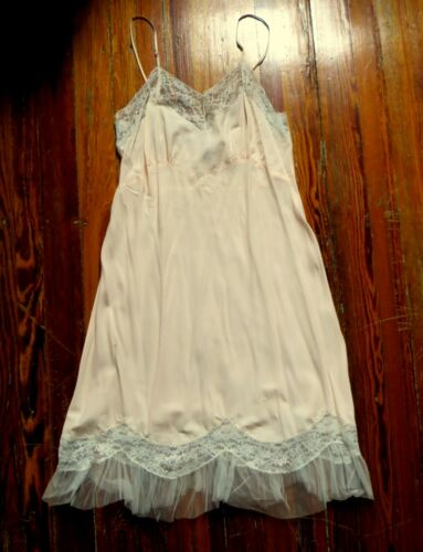 Stunning Ro Jene 1940s Frothy Pale Pink Lace/Tulle