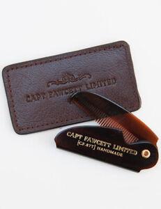 Captain-Fawcett-Folding-Pocket-87T-Moustache-Comb-with-Leather-Case-Gift