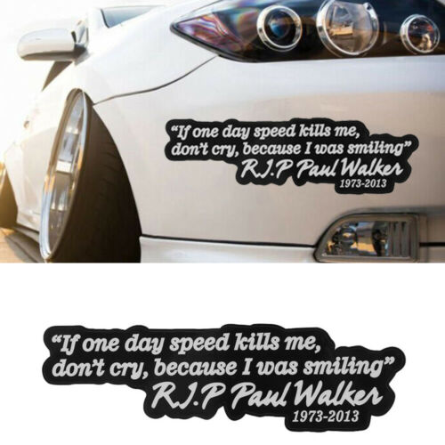 Motorcycle Racing PAUL WALKER Motto Car Sticker Vehicle Decal Auto Window Decor