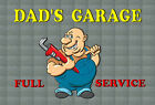 TIN SIGN DAD'S GARAGE WALL BAR,OFFICE,HOME,SHED