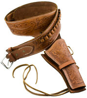 Holster Western Deluxe Tooled Brown