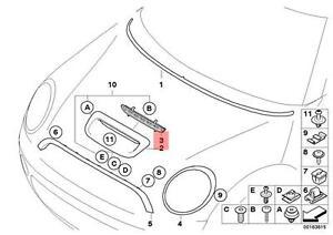 Genuine-MINI-R55-R56-R57-Hood-Air-Inlet-Black-Grille-OEM-51232752275