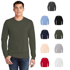 American-Apparel-2007W-Mens-Fine-Jersey-Long-Sleeve-T-Shirt-Ring-Spun-Cotton-Tee