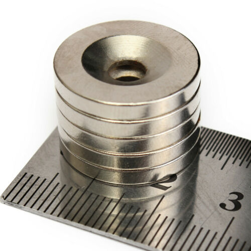 50Pcs N52 20x3mm Hole 5mm Magnet Strong Round Neodymium Disc Rare Earth Fridge