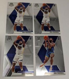 LOT-4-Warriors-Eric-Paschall-Card-Rc-2019-20-Mosaic-SP-Variation-Base