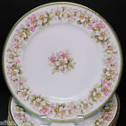 Antique French Elite Limoges Set of 6 Dinner Plates Plate White Pink Blossoms