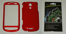 Red Hard Plastic Case & Screen Protector For Samsung Epic 4G D700