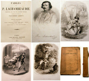 FABLES-P-LACHAMBAUDIE-ILLUSTRE-ST-SIMON-1851-ED-MICHEL