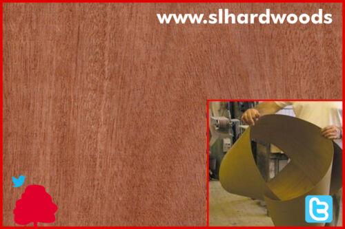 Veneer Flexi Sapele Crown Cut Wood 3050x1220x0.6mm
