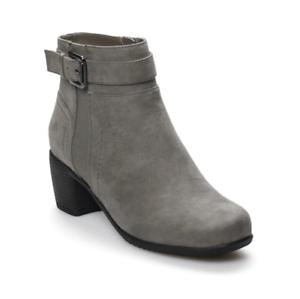 ventas al por mayor Nuevo Con Con Con Etiquetas Para Mujer Croft & Barrow Baron Ortholite Zapatos Taco Alto Tobillo gris  hermoso