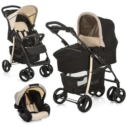 Babyschale Kombikinderwagen Hauck Kinderwagen 3in1 Set Shopper SLX Beige