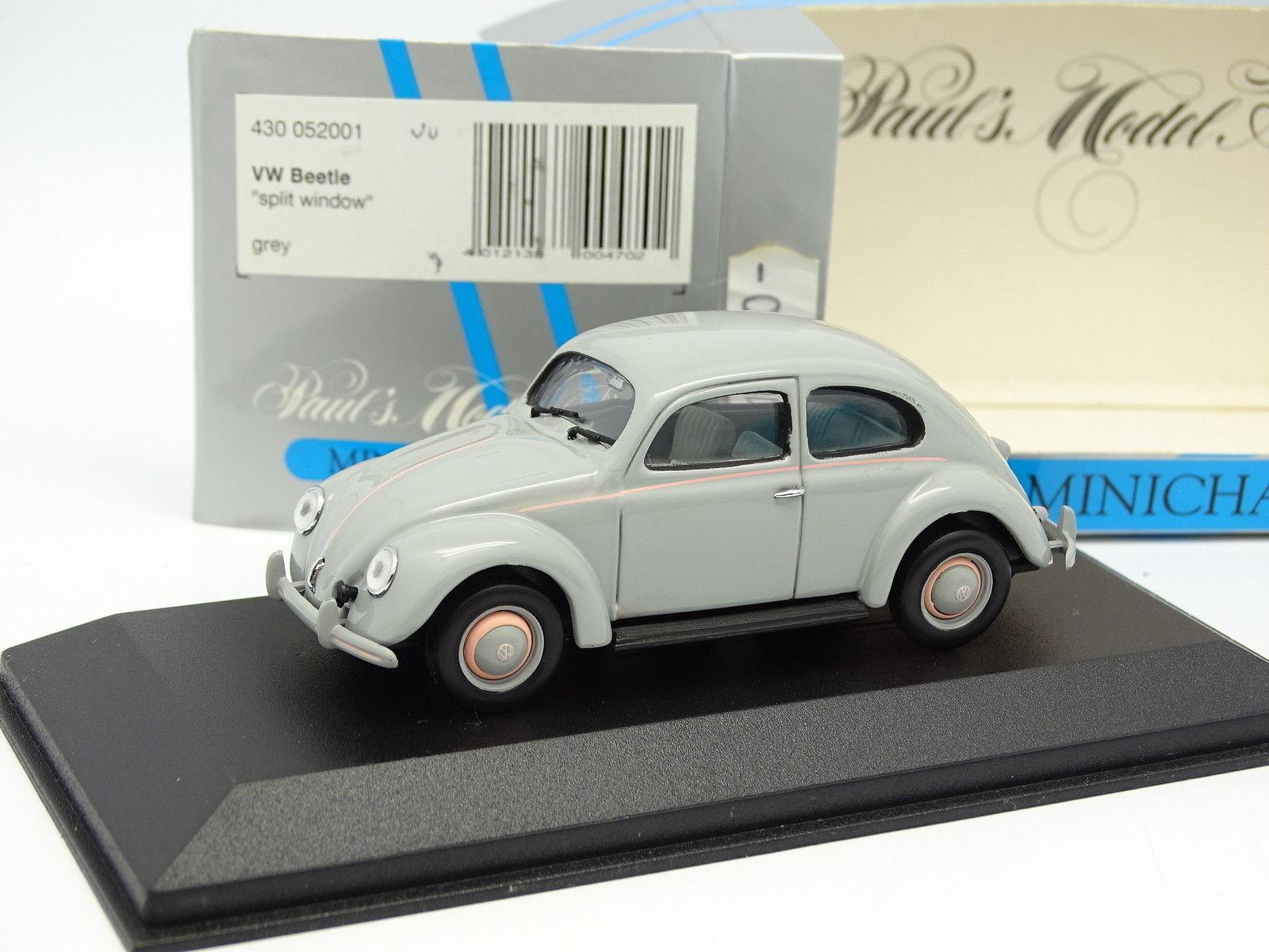 Minichamps 1 43 - VW Käfer split window grau