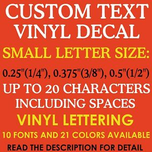 CUSTOM Vinyl Decal Toy Model Name - Custom vinyl decals numbers