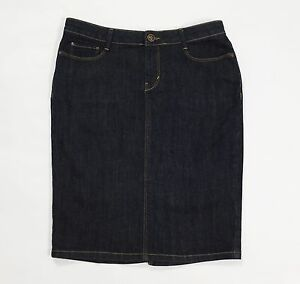 Gonna-ovs-jeans-casual-usato-w28-tg-42-used-blu-a-tubo-tubino-donna-denim-T2112