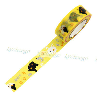 1X Japanese 15mm Wide Decor Craft Paper Washi Tape For DIY Gift Making Sticker