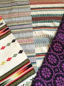 4 Antique Swedish Wool Tapestry Table Runners 1920-1960 Packing Of Nominated Brand Runners