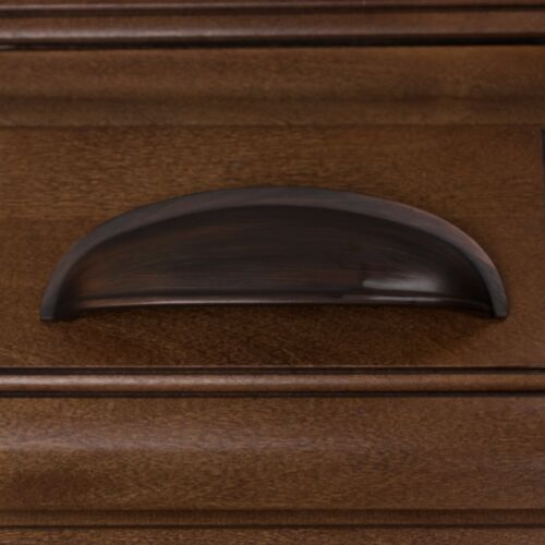 """GlideRite 3/"""" CC Cup Bin Cabinet Drawer Pull Oil Rubbed Bronze 80753-ORB-1"""