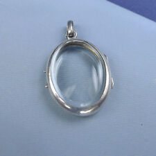 Victorian Sterling Silver Locket Pendant / Picture Photo Reliquary