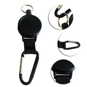 Nylon-Rope-Retractable-Pull-Key-Ring-Chain-Belt-Clip-Reel-Recoil-Extends-To-60cm