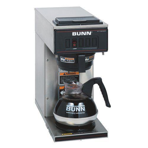 Bunn Vp17-1 Coffee Brewer - 1600 W - 2 Qt - 12 Tasses  - AUCUNE-Acier inoxydable