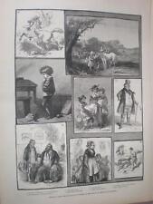 Las selecciones de exhibición de obras de tarde HK marrón en Liverpool 1883 antiguos impresión