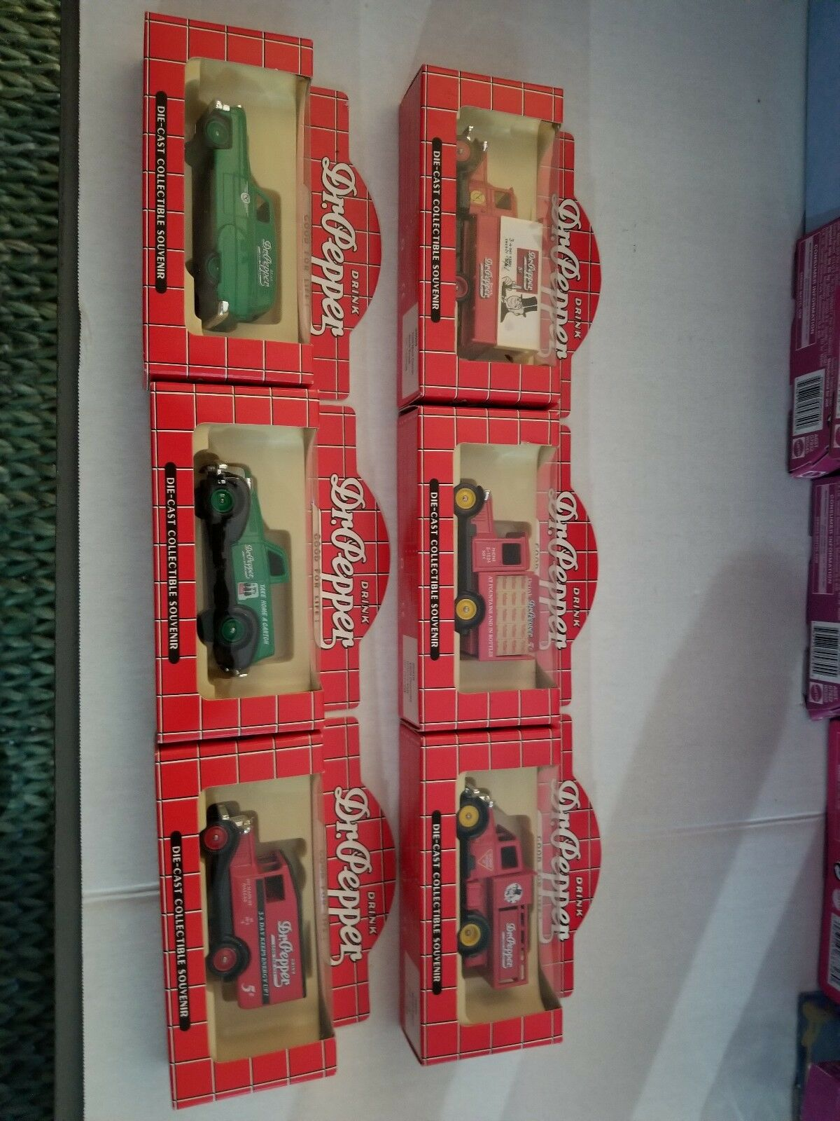 DIECAST COLLECTOR DR PEPPER DELIVERY VANS SET OF 6 brand new free shipping