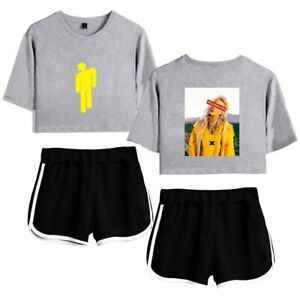 Women Merch Summer Clothes For Billie Eilish Shorts T Shirt 2 Piece Outfits Ebay