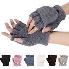 Girls Cute Fluffy Hand Wrist Warmer Soft Winter Fingerless Gloves Women Mitten