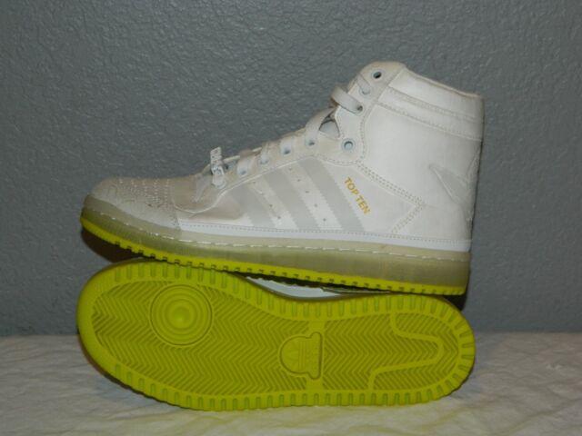 Juniors Adidas Top Ten Hi Yoda Star Wars Shoes B35565 Size 4.5 Glow in the Dark