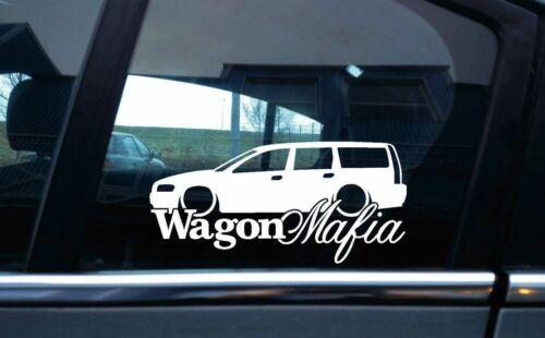 Lowered WAGON MAFIA sticker V2 for Volvo V70 T5 station wagon 2nd gen