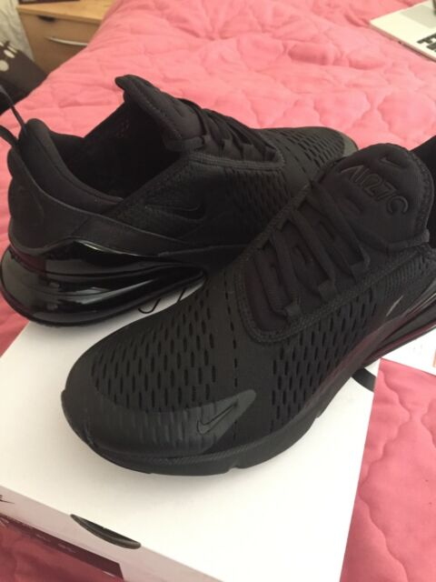 4770afd2d200 Nike Air Max 270 Triple Black Size 9 UK 44 EU Ah8050-005   eBay