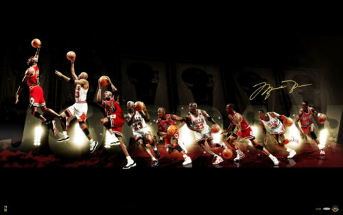 Poster A3 Michael Jordan Evolucion Baloncesto Basketball Evolution 03