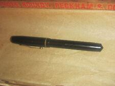 Vintage WASP Vacuum Fil Sub of Sheaffers Co. Black Fountain Pen Antique 1930-40s