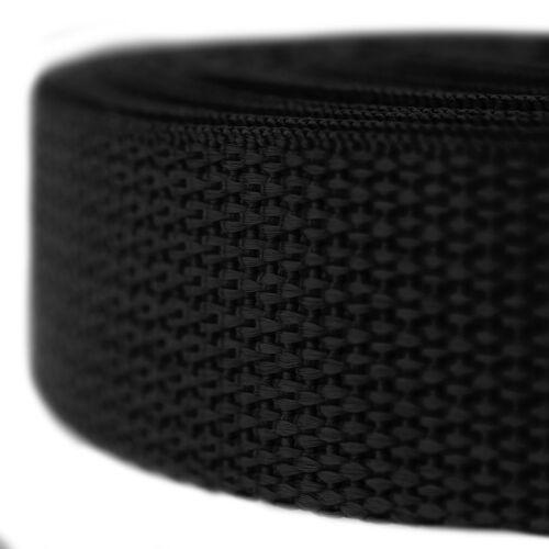 Country Brook Design® 3//4 Inch Black Polypro Webbing 25 Yards
