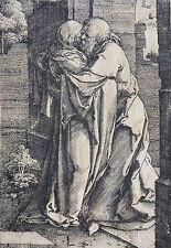 LUCAS VAN LEYDEN KUPFERSTICH JOACHIM & ANNA UNTER PFORTE SIGNIERT ORIGINAL 1520