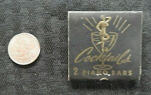 """1950s """"Jackie's Lounge & Piano Bar"""" Feature Matchbook Indianapolis IN Indiana NM"""