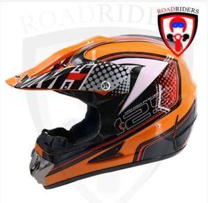 Roadriders' Orange 25 HNJ Off Road Motocross Helmet