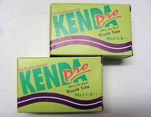 "~ 2 New Kenda Pro 20"" x 1-1/8"" Bicycle Inner Tubes 32mm Presta Valve BMX JR ~"