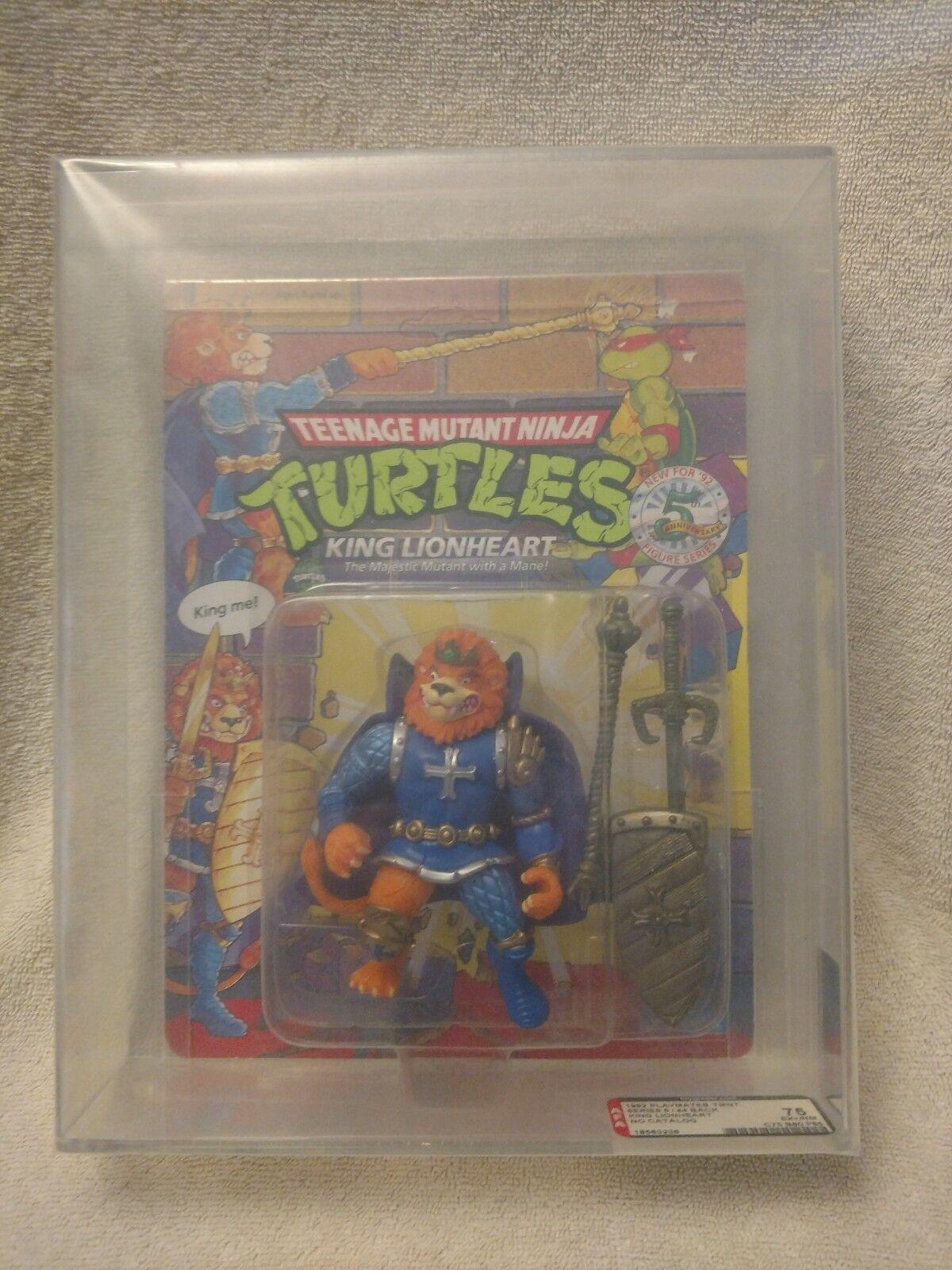 AFA graded graded graded 75 SEALED 1991 Playmates TMNT Ninja Turtles  KING LIONHEART bb3579