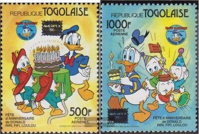 kompl.ausg. PräZise Togo 1962-1963 Postfrisch 1986 Donald Duck