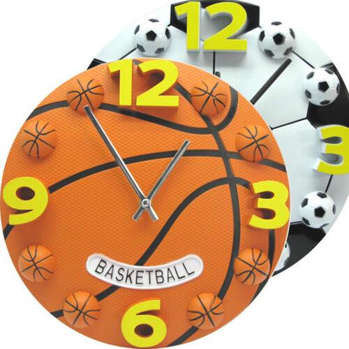 UK/_ SPORT STYLE BASKETBALL FOOTBALL ANALOG WALL CLOCK HOME DECOR SOUVENIR ALLURI