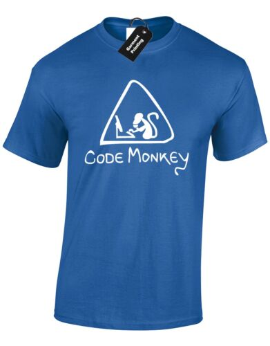 CODE MONKEY MENS T SHIRT FUNNY GAMER GAMING PC PS4 XBOX CODING QUALITY NEW