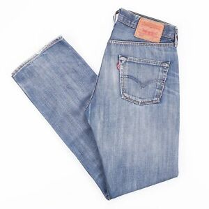 Vintage-Levi-039-s-501-Regular-Straight-Fit-Men-039-s-Blue-Jeans-W30-L32