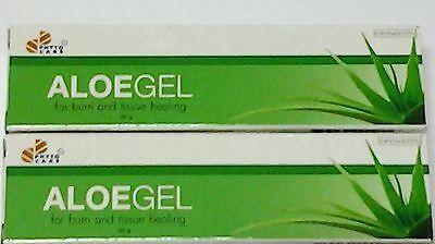 2 x  Aloegel Aloe Vera Gel 87.399% For Acne Burn Sun Burn Moisture 30 g.