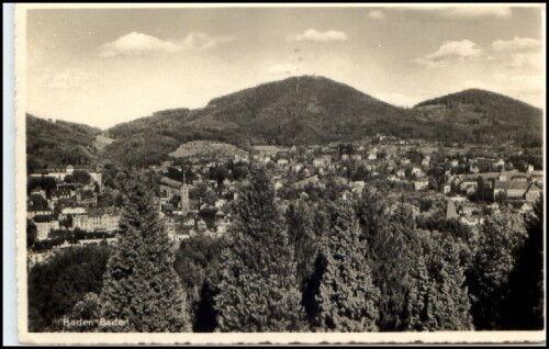 BADEN BADEN 1940 Feldpost 2. Weltkrieg gelaufene Karte alte Postkarte