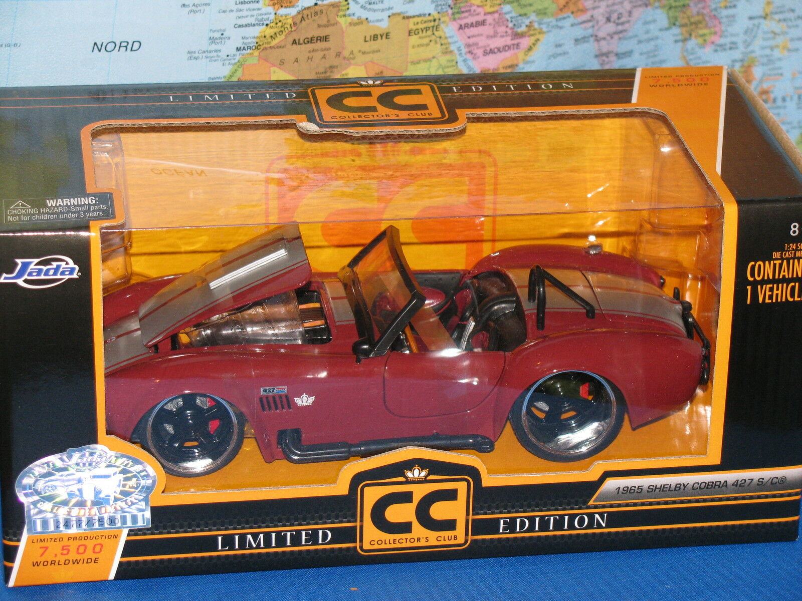 1   24 jada cc 1965 shelby - cobra 427 s   c limited edition 7500 weltweit neue