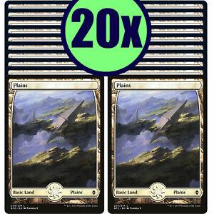 20x PLAINS 254 Full Art Basic Land NM/LP MTG Magic Battle for Zendikar