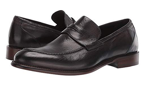 New in Box Hommes Johnston & Murphy Bryson Penny Mocassins Dans Anthracite